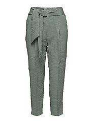 Bow belt trousers - TURQUOISE - AQUA