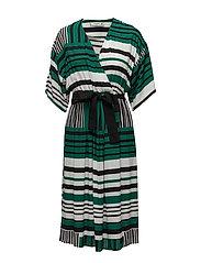 Print wrap dress - GREEN