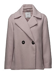 Double-breasted coat - LT-PASTEL PINK