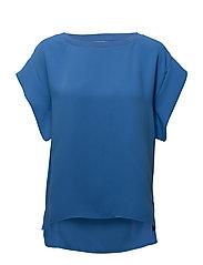 Sleeve detail blouse - LT-PASTEL BLUE