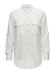 Chest-pocket soft shirt - NATURAL WHITE