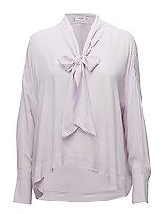 Lace flowy blouse - LT-PASTEL PURPLE
