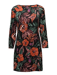 Floral pattern dress - BLACK