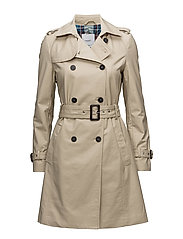 Double breasted trench - MEDIUM BROWN