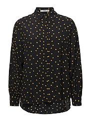 Polka-dot print blouse - NAVY