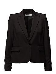 Patterned suit blazer - BLACK