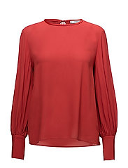 Puffed sleeves blouse - RED