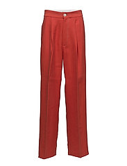 Contrast seam trousers - RED
