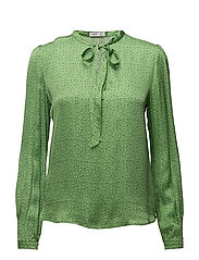 Bow printed blouse - GREEN
