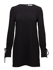 Puffed sleeves dress - BLACK