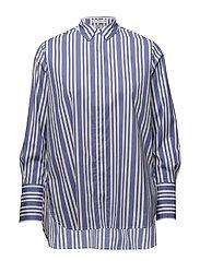 Stripe-patterned shirt - MEDIUM BLUE