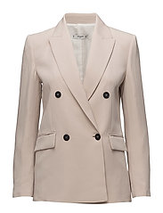 Contrast buttons blazer - LT PASTEL GREY