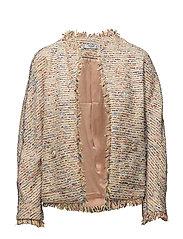 Trim tweed jacket - YELLOW