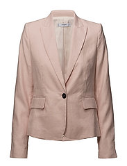 Structured linen jacket - PINK