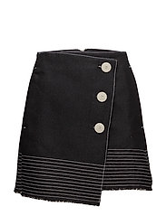 Contrast seam skirt - BLACK