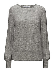 Puffed sleeves sweater - MEDIUM GREY