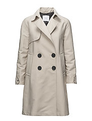 Double breasted trench - LT PASTEL GREY