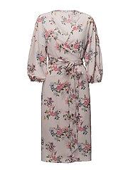 Floral chiffon dress - PINK