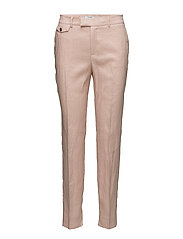 Pocket linen-blend trousers - PINK