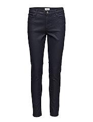 Waxed skinny Belle jeans - DARK BLUE