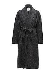 Herringbone flecked coat - GREY