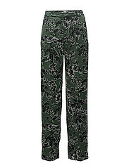 Floral print trousers - GREEN