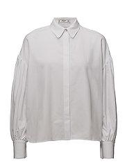 Puffed sleeves shirt - WHITE