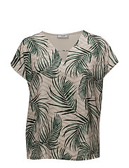Combined printed T-shirt - GREEN
