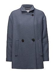 Buttoned wool coat - LT-PASTEL BLUE
