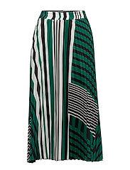 Printed pleated skirt - GREEN