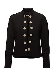 Contrasted buttons jacket - BLACK
