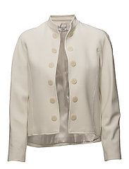 Contrasted buttons jacket - LIGHT BEIGE