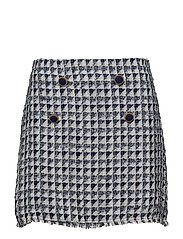 Tweed skirt - MEDIUM BLUE