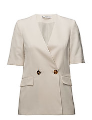Double-breasted blazer - NATURAL WHITE