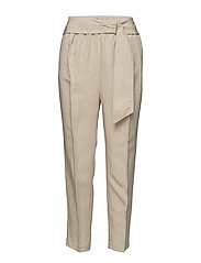 Belt line trousers - LT PASTEL BROWN