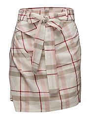 Bow linen skirt - RED