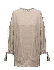 Lace t-shirt - LT PASTEL BROWN