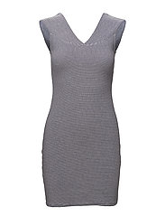 Fitted textured dress - NATURAL WHITE