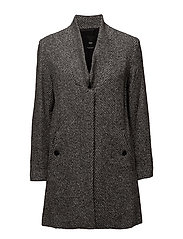 Herringbone flecked coat - GREY