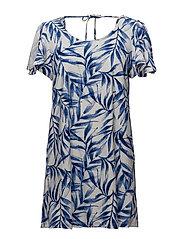 Ruffled sleeve dress - MEDIUM BLUE