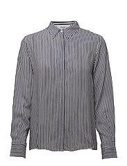 Printed flowy shirt - NAVY