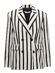 Striped suit blazer - WHITE