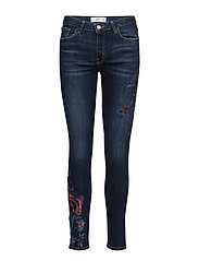 Floral embroidery jeans - OPEN BLUE