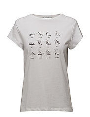 Printed message t-shirt - NATURAL WHITE
