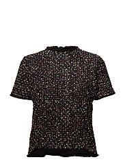 Tweed contrasting t-shirt - PINK