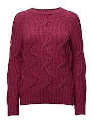 Cable-knit sweater - BRIGHT PINK