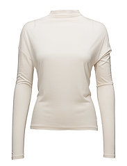 High collar t-shirt - LIGHT BEIGE