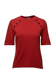 Side snap t-shirt - RED