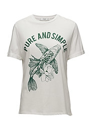 Rhinestone printed t-shirt - GREEN