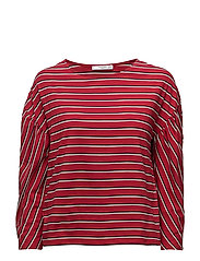 Striped cotton t-shirt - RED